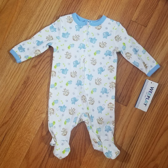 fc1c93896 Weeplay One Pieces | Infants Baby Boy Animals Printed Footie | Poshmark
